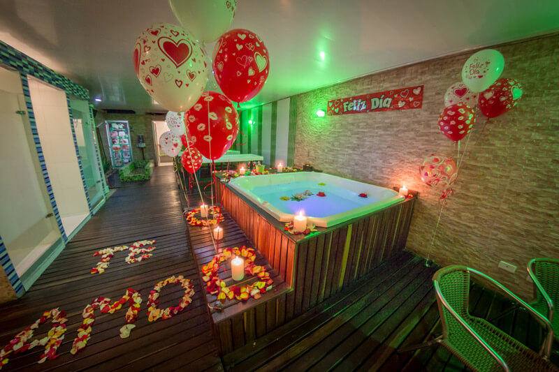 Spa romantico para Parejas Aniversario Bogotá Decorado